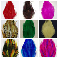 HACKLE FEATHER PADS: 44 Colors To Choose From!! Headbands/Bridal/Halloween/Hats