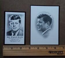 JFK 1963 ORIGINAL FUNERAL PRAYER CARDS (2) LARGE AND SMALL