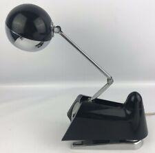 Vtg Hamilton Industries Black Desk Lamp # 2510 Mid Century Eye Eyeball Orb Works