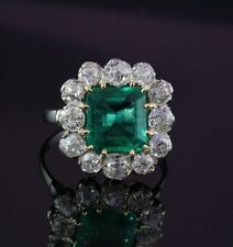 Emerald Platinum Art Deco Fine Jewellery