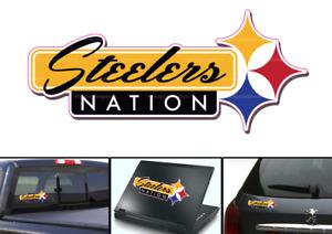 Pittsburgh Steelers Nation Vinyl Vehicle Car Laptop Yeti Sticker Decal
