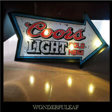 COORS LIGHT Beer Bar Pub Restaurant Decor Poster Metal Marquee Retro Sign Light
