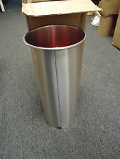 Glaro Standard Size Umbrella Cylinder - Satin Aluminum - Trash Can Office 921SA