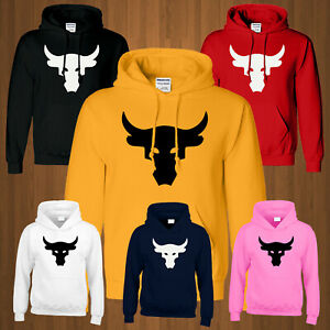 Bull Hoodie Fight Bodybuilding Project Gym Mens Hoody Lifting Workout Gift