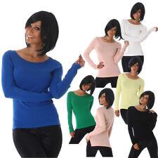 Sexy Pullover Pulli Sweater Langarm V-Ausschnitt 34 36 38 40 S M