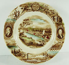 "Oregon Plate Johnson Brothers Meier & Frank England Multi Color England 10-3/4"""