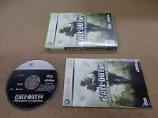 Xbox 360 Pal Game  CALL OF DUTY 4 MODERN WARFARE with box Instructions
