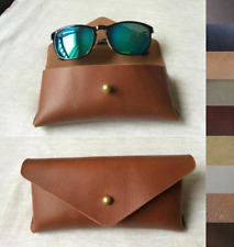 men women Eyeglass Cases sunglasses bag holder cow Leather Customize brown z325