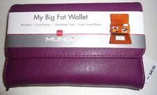 """Mundi """"My Big Fat Purple Wallet""""  By Mundi Purple WALLET ORGANIZER"""