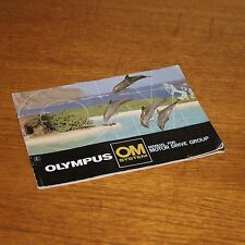 Booklet OLYMPUS OM SYSTEM MANUAL for MOTOR DRIVE GROUP Dolphins on cover