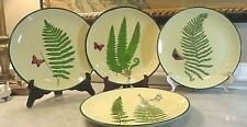 Raymond Waites Plates Designed for Toyo Trading - Ferns With Butterfly Set of 4