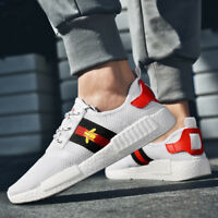 Hot! Men's Embroidery Bee Casual Shoes Lace Up Sneakers Breathable Walking Shoes