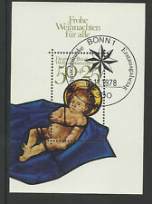 Bund 1978  Block 17  Weihnachtsmarke   mit Gummierung,  Ersttagsstempel