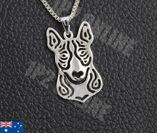 Pit Bull Terrier Dog Pendant Charm Jewelry Necklace Polished Stainless Steel