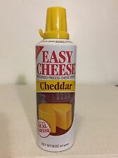 Vintage 90s Nabisco Easy Cheese Cheddar Can Processed Aerosol Prop Bottle Empty