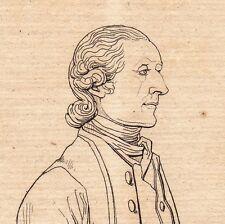 Portrait XIXe Johann Kaspar Lavater Physiognomonie Zurich Suisse 1821