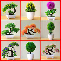Creative Artificial Plant Potted Grass Ball Bonsai Tree Home Decoration Flower