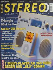 Stereo 3/07 Yamaha NS-F 525, Triangle Magellan Cello, Roksan Kandy, Tivoli iYiYi