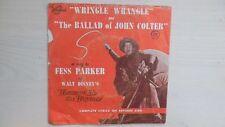 Disneyland Records WRINGLE WRANGLE / The Ballad of JOHN COLTER 45 RPM 1956