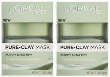L'Oreal Paris Pure Clay Mask, Purify and Mattify, 48g (pack of 2)