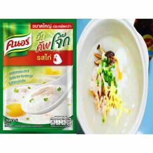 55 g. Thai Knorr Jok Instant Porridge Congee Jasmine Rice PORK Flavor Delicious