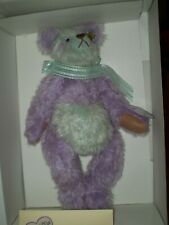 Annette Funicello Lila Mohair Bear Vintage Purple And Teal #940/5000