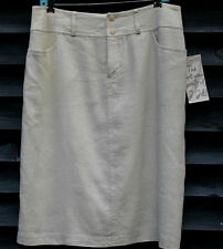 NWT J. JILL Pencil Skirt Lined Size 16 Oyster