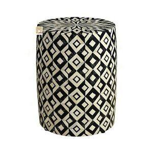 Bone Inlay Stool Home Decor Furniture Side Table lamp table night stand  Decor5