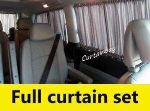 Mercedes Viano Vito 639 curtains camper curtain set black