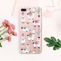 Llama iPhone 11 XS Cover Alpaca iPhone X 7 8 Plus Case Cactus iPhone 6s XR Skin