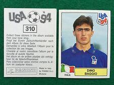 USA 94 1994 n 310 DINO BAGGIO ITALIA ITALY , Figurina Sticker Panini NEW