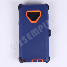 For Samsung Galaxy NOTE 9 Blue/Orange Defender Case Cover(Clip Fits Otterbox)