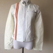 Wilson Leather Maxima White Leather Moto Jacket Size S Ro