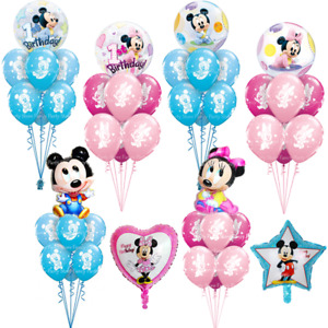 Baby Mickey Minnie Mouse 1st Birthday Balloons Party Baby Shower Helium Qualatex