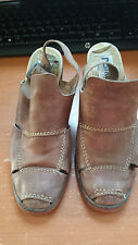 DESTROY GENUNIE LEATHER SHOES SZ 8 FOR WOMAN BRAUN COLOR MADE IN SPAIN