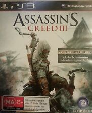 Assassin's Creed III -- Special Edition (Sony PlayStation 3, 2012) Exclusive PS3
