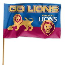 Brisbane Lions AFL GAME DAY Flag Banner WITH Pole Fathers Day Man Cave Gift