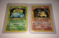 Charizard & Venusaur Pokemon Cards - Original Rare Holos - Base Sets