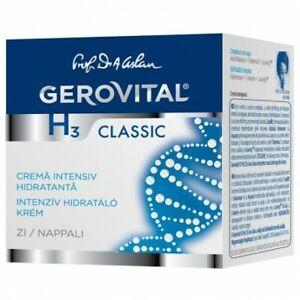 Gerovital H3 Classic Moisturizing Day Cream, 2x50 ml,free shipping world wide