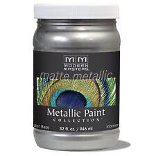Modern Masters Matte Platinum Silver 32-Ounce FLAT Metallic Paint For Walls