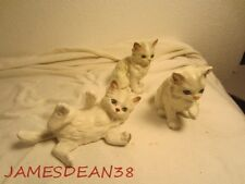 Lefton Persian Cat Figurines 3 Of Them Kittens Vintage