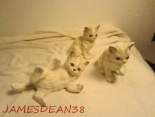 LEFTON PERSIAN CAT FIGURINES 3 OF THEM KITTENS VINTAGE