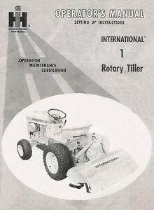 Cub Cadet 1 Rotary Tiller Operator / Setting Up manual #1 083 293 R1 (10/1969)