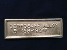 Cerrosafe 160-190 Chamber Casting Alloy 1 lb. (2 -  1/2 lb. ingots)  (15-16 oz.)
