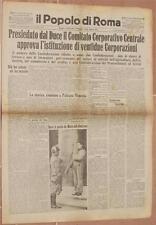 IL POPOLO DI ROMA 11 MAGGIO 1934 CORPORAZIONI LUMINARIA SAN RANIERI PISA TOSCANA