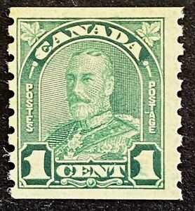"Canadian Stamp, Scott #179 1c deep green ""King George V"" 1931 F/VF M/NH"