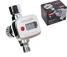 220V Digital Edelstahl 0-1.6MPA Hydraulisch Druckmesser Manometer G1//2 Verbinder
