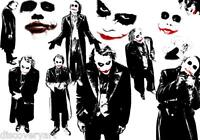 Batman The Joker Collage Canvas Wall Art Film Movie Poster Print Heath Ledger