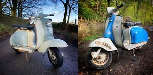 ORIGINAL PAINT LAMBRETTA LI150 SERIES 1  & LAMBRETTA EIBAR LI125 WINTER MODEL