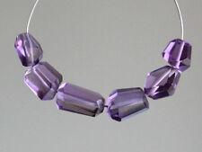 Natural Amethyst Faceted Nugget Semi Precious Gemstone Beads
